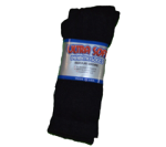 Case Lot Ultra Soft Black Diabetic Crew Socks
