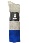 Mens Blue Top Boot Sock
