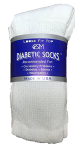 White Diabetic Crew Socks